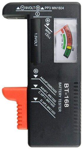 BT168 Digital Battery Capacity Tester for AA AAA C D 9V 1.5V Button Cell(Black) #ToyWorld