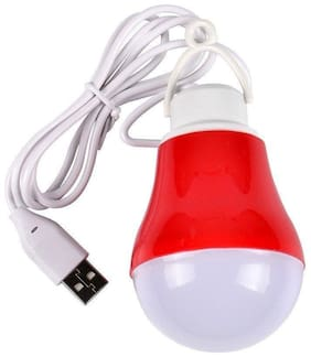 BTK Trade 7 W Wired LED Bulb (Red)