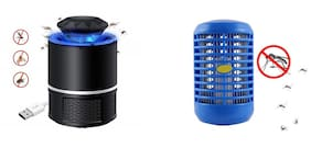 BTK Trade Combo of Night Lamp Cum Insect Killer and USB Powered Electronic LED Mosquito Killer Machine