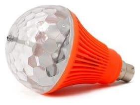 BTK Trade LED Diwali Decorative Colorful Magic DJ Automatic Rotation Disco Party Bulb B22 Connector (Orange)