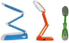 BTK Trade Rechargeable 31 LED Emergency Table Flexible Desk Lamp (Assorted)