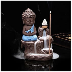 Buddha Smoke Fountain with Free 10 Smoke Back flow Scented Cones