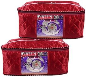Bulbul Red Saree Covers - 2 pcs