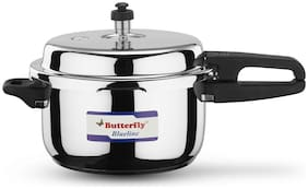 Butterfly Stainless Steel 5 L Induction Bottom Outer Lid Pressure Cooker - Set of 1 ,