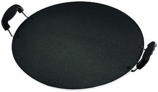 Butterfly Raga Round Non-Stick Aluminium Tawa, 35.5 cm, Black