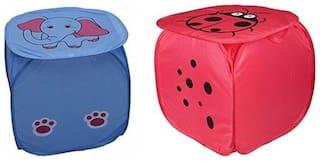 Metroz Nylon Assorted Laundry Basket ( Set of 2 )