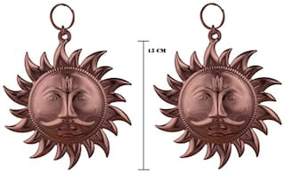 Buy 1 Get 1 Free SUN FACE SURYA SURAJ ANTIQUE METAL WALL HANGING RARE HINDU RELIGIOUS IDOL