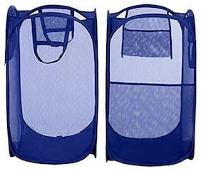 Imported Products Nylon Assorted Laundry Basket ( Set of 2 )