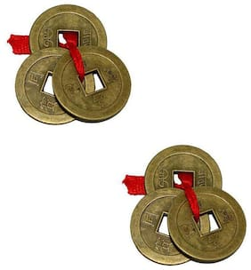 Buy 1 Get 1 Free Feng Shui Set Of 3 Lucky Coins For Wealth and Achievement Good luck & Prosperity