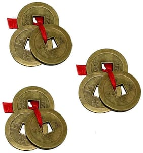 Buy 2 Get 1 Free Divya Mantra Chinese Feng Shui I-Ching Amulet Coins