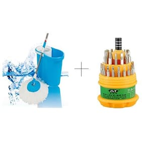 Buy Easy Magic Mop With Free Jackly 31 In 1 Screwdriver Set Toolkit - MOPTL