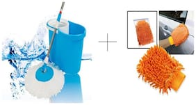 Buy Easy Magic Mop With Microfibre Hand Gloves 2 pcs - MOPFBR2