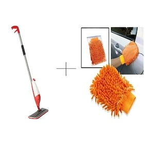 Buy Spray Mop With Free 2 pcs Microfibre Hand Gloves - SPYFBR2