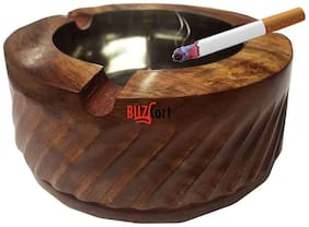 BuzyKart Wooden Premium Quality Antique Ashtray With Handcrafted Design