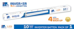 C&S LED INVERTER /RECHARGEABLE /EMERGENCY Batten Tubelight 2 Feet 10W coolwhite   With 1 Years Manufacturer Warranty Pack of  1