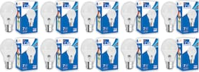 C&S LED  Bulb 7 W B22 Cool White With 2 Years Manufacturer Warranty - Pack Of  10