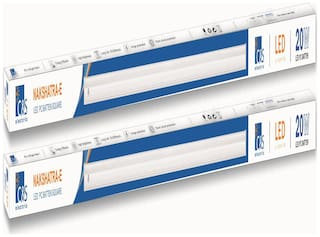 C&S LED 20-W Cool White 4 ft LED Batten Tubelight With 2 Years Manufacturer Warranty-Pack of 2