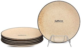 Caffeine Ceramic Handmade Marble Matte Style Plates (20.32 cm (8 inch)) set of 6