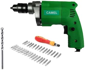 CAMEL  10mm 350w Electric Drill Machine with 1Pc Wall Bit and Screw Driver Set