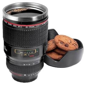 Voltac  Camera Lens Mug With;Stainless Steel Travel Thermos Camera Lens Coffee Tea Cup Mug Coffee Cup