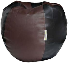 Can Bean Bags Classic Artificial Leather XL Bean Bag Filled With Beans