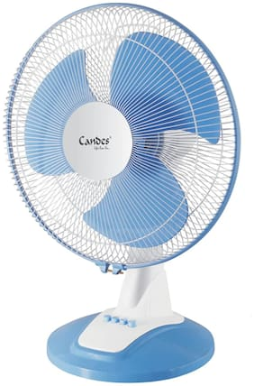 Candes Desker Table Fan for Cooling with Automatic Oscillation 400 mm 80 W (Blue, 16TFVelocityWB04)