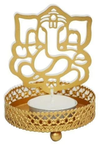 976793fb939 Buy Lavi Metal Golden Decorative Candle Online at Low Prices in ...