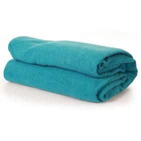 Cannon Blue Melange Anti Pill Double Blanket (001) (1 PC)