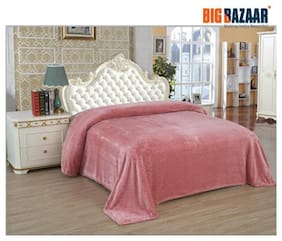 ebb361f33c Cannon Carved Flannel Pink Double Blanket 1 PC