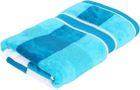 Cannon Yarn Dyed Jumpin Velvet Blue Medium Bath Towel 1 pc