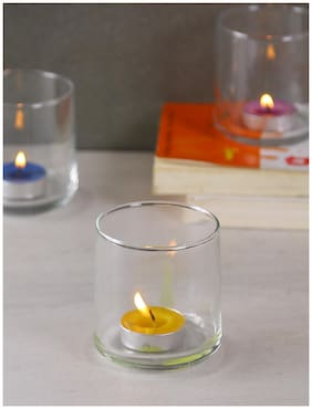 Uniglass Glass Transparent Candle