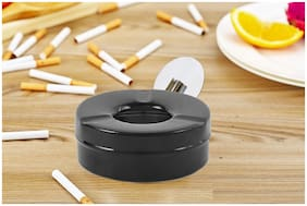 Capnicks  Ashtray For Indoor Or Outdoor Use Desktop Smoking Ash Tray For Home Office Decoration With Lid (Pack of 1)
