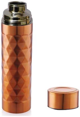 CAPNICKS Stainless Steel Brown Water Bottle ( 1000 ml , Set of 1 )