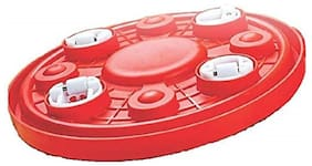 Capnicks Heavy ABS Plastic Strong Gas Cylinder Trolley with Four Wheels - Gas Trolley/LPG Cylinder Stand/Water Jug/Pot Stand (Red;1U)