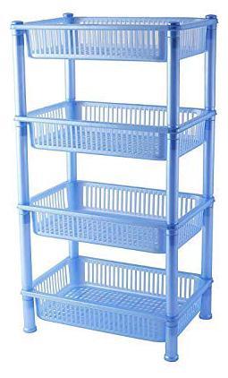 Capnicks  Multi Purpose Plastic Rack 4 Shelves for Kitchen   Home Storage Racks  1 Pc.