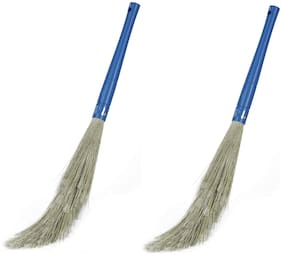 Capnicks No Dust Plastic Broom For Home Cleaning Pack of 2