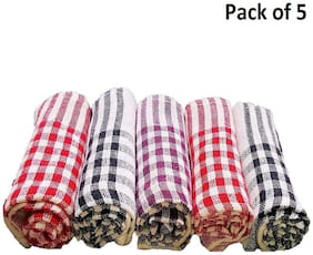 Capnicks Set of 5 Kitchen Cloth / Cotton Duster for Cleaning Daily use (Best Quality long Lasting)