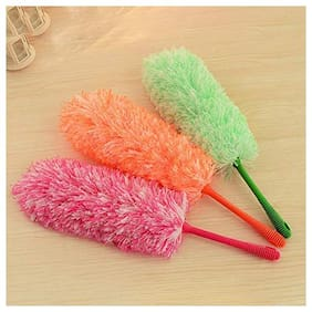 Capnicks Static Microfiber Soft Long Handle Duster Broom for Dust Cleaning (Pack Of 2Pcs.)