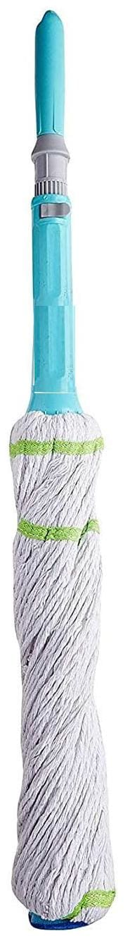 Capnicks Twist and Squeeze Microfiber Cotton Belts Telescopic Mop for All Kind of Surfaces Floor Cleaning etc (1 pc)