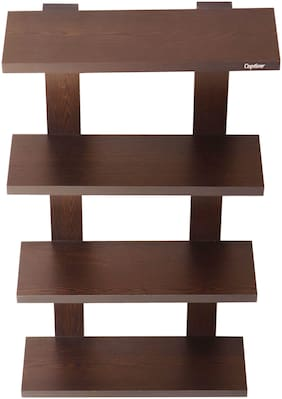Captiver Altair Wooden Wall Shelve Unit Wenge (37.5 X 12.5 X 68) CM