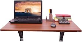 Captiver Wall Mounted Elara Study Table Classic Walnut Colour (80X53X30) cm/Stand Desk Breakfast