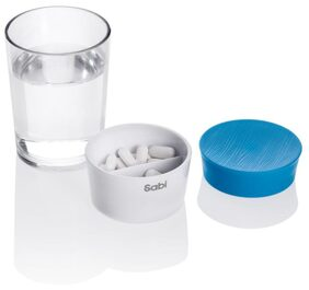 CARAFE PILLS + DRINK WATER CUP AND PILL BOX
