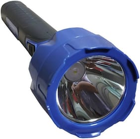 Care 4 Rechargeable Led Torch Laser Led Torch Light With High Power 2 W Cob Light Torch (Blue : Rechargeable)