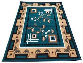 Carpets for living room 5 x 7 feet 150 x 200 cm blue colour