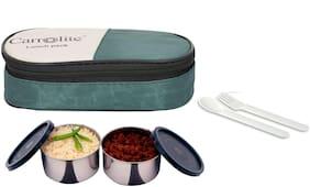 Carrolite Green Lunch box ( Set of 1 , 400 ml )