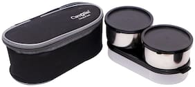 Carrolite 3 Container Stainless Steel Lunch Box Set of 1 ( Assorted ,  650 ml )