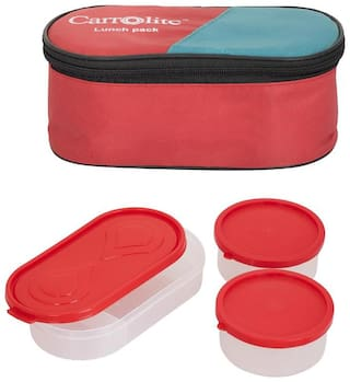 Carrolite Red Lunch box ( Set of 1 , 750 ml )