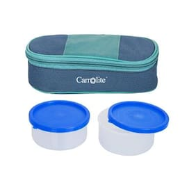 Carrolite 2 Containers Plastic Lunch Box - Assorted