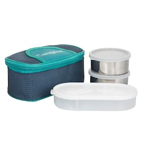 Carrolite 3 Containers Stainless steel Lunch Box - Assorted