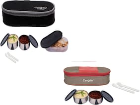 Carrolite 4 Containers Stainless steel Lunch Box - Multi